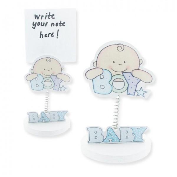 12 Adet Bebek Boy Sticker Ahşap Notluk