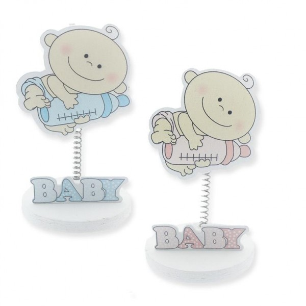 12 Adet Biberonlu Bebek Ahşap Notluk