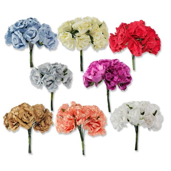 10 Demet (120 Adet) Kağıt Gül Çiçek