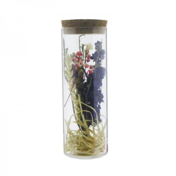 Cam Tüp İçinde Doğal Uzun Ömürlü Kuru Çiçek