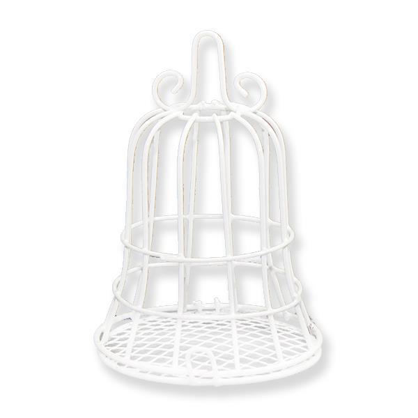 10 Adet Beyaz Metal Kafes 7x10,5cm
