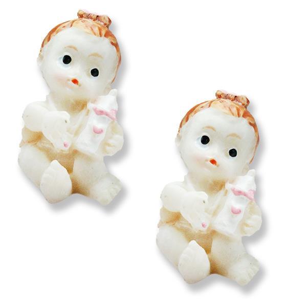 12 Adet Elinde Biberonlu Minik Bebek Biblo