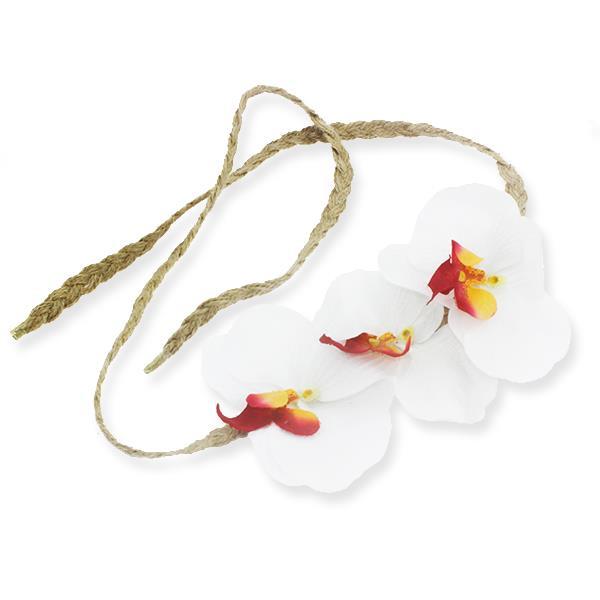 Helen Taç Yapay Orkide Çiçekli Saç Bandı