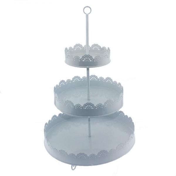 İşlemeli Metal Cupcake Standı 3 Katlı