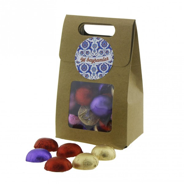 Karton Çantada 30 Adet Çikolata Bayramlık
