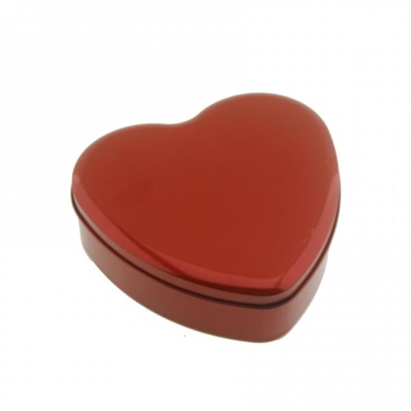 Kırmızı Metal Kalp Kutu Kapaklı 16x16cm