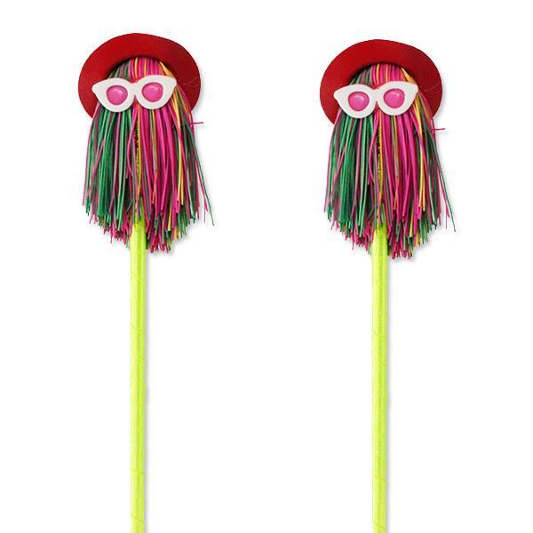 12 Adet Kırmızı Şapkalı Gözlüklü Tükenmez Kalem