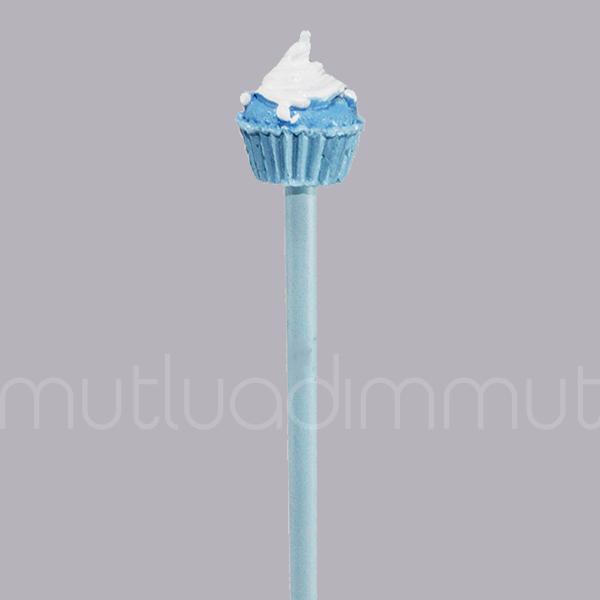 Kremalı Cupcake'li Kurşun Kalem 2 Adet