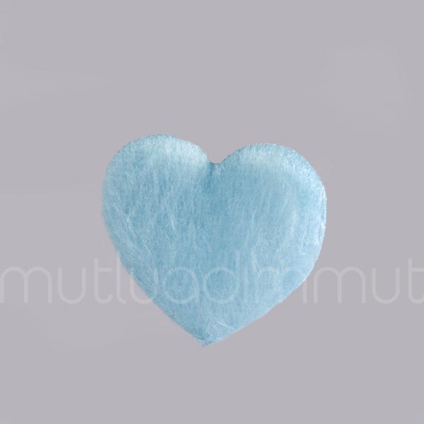 Kumaş Tüylü Kalp 12 Adet