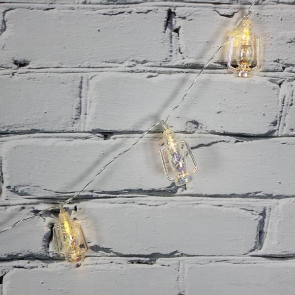 LED Işık Plastik Fener Dekor Zinciri Şerit