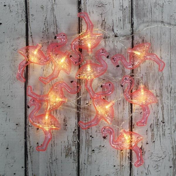 LED Işık Plastik Flamingo Dekor Zinciri Şerit