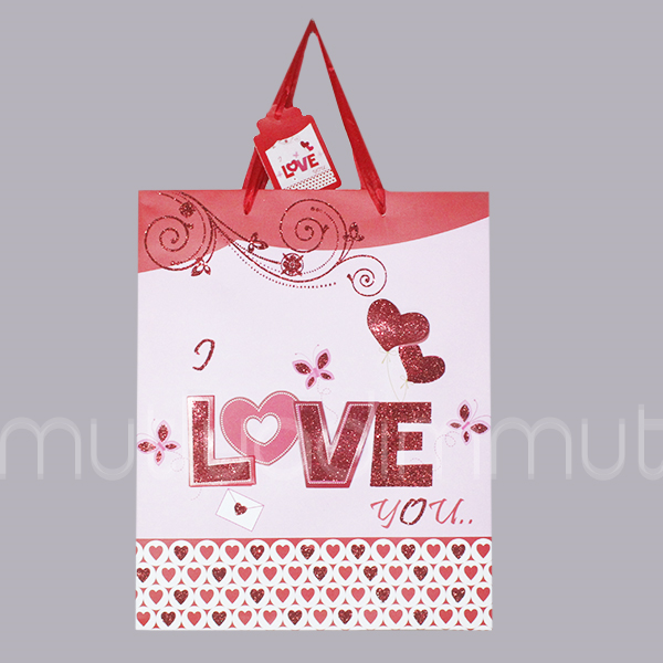 Love Yazılı Karton Çanta 1 Adet