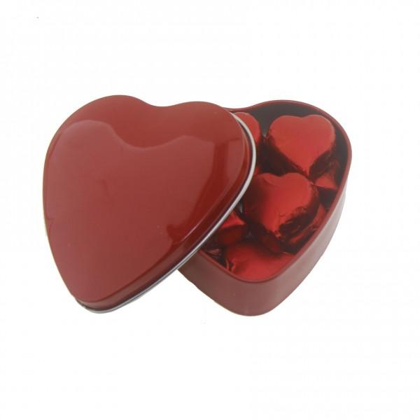 Kalp Kutu İçinde 10 Adet Kalp Çikolata Sevgiliye