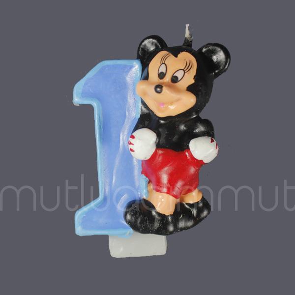 Mickey Mouse 1 Yaş Doğum Günü Mum