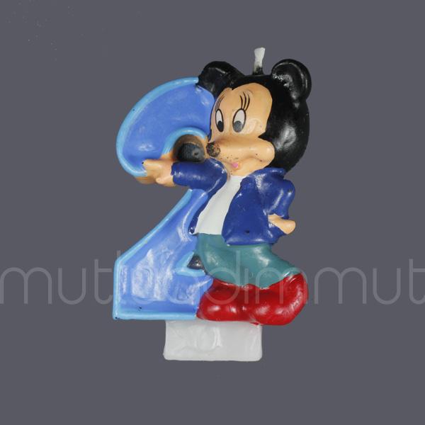Mickey Mouse 2 Yaş Doğum Günü Mum