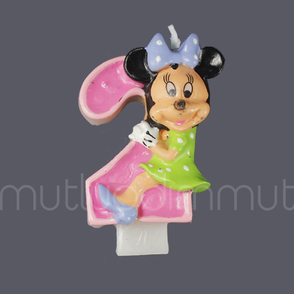 Minnie Mouse 2 Yaş Doğum Günü Mum