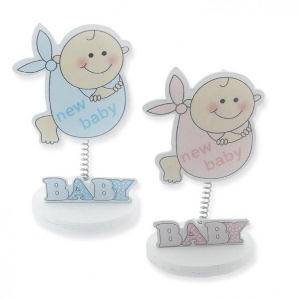 12 Adet New Baby Sticker Ahşap Bebek Notluk