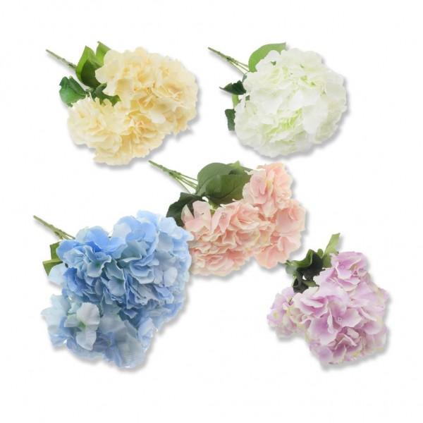 Plastik Saplı Büyük Kumaş Ortanca Çiçek Demedi