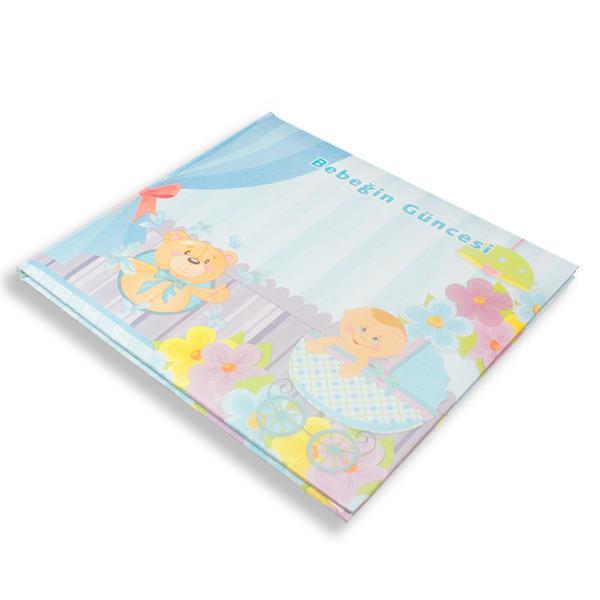 Mavi Pusetli Ayıcıklı Bebeğin Güncesi Anı Defteri