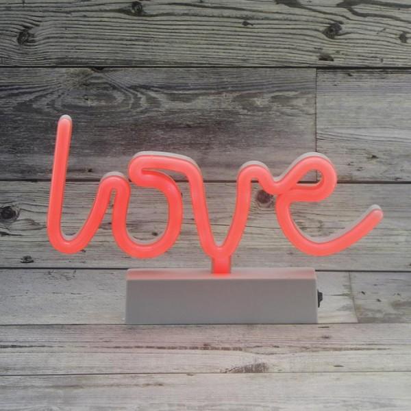 Sevgiliye Hediye Seti Kutusu Neon Love Yazılı