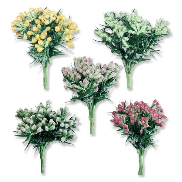 12 Demet (144 Adet ) Parlak Simli Tomurcuk Pıtırcık Çiçek
