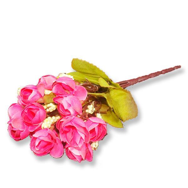 Tomurcuklu Kumaş Çiçek 2 Demet