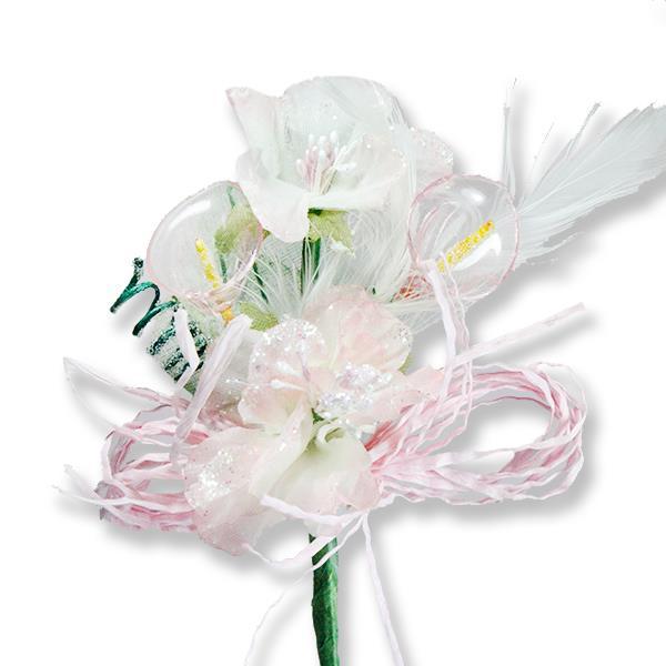 Yaka Çiçeği Organizasyon Süslü Akrilik Çiçek 12 Adet